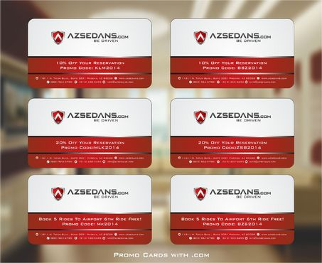 AZ Sedans Discount Card Business Cards and Stationery  Draft # 127 by Deck86