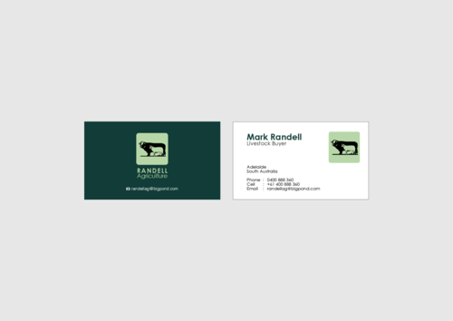 Randell Ag Business Cards and Stationery  Draft # 10 by KenArrok