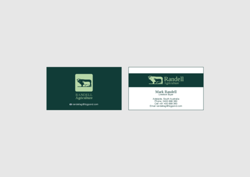 Randell Ag Business Cards and Stationery  Draft # 12 by KenArrok
