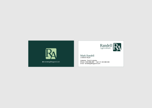 Randell Ag Business Cards and Stationery  Draft # 13 by KenArrok