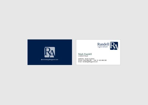 Randell Ag Business Cards and Stationery  Draft # 14 by KenArrok