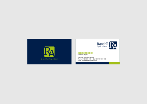 Randell Ag Business Cards and Stationery  Draft # 17 by KenArrok