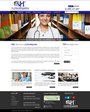 Your Personal Medical Records Complete Web Design Solution Winning Design by mycrodesigns