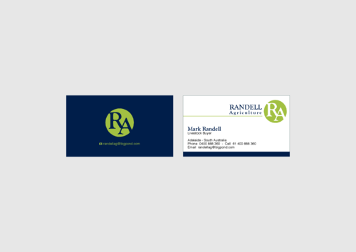Randell Ag Business Cards and Stationery  Draft # 21 by KenArrok