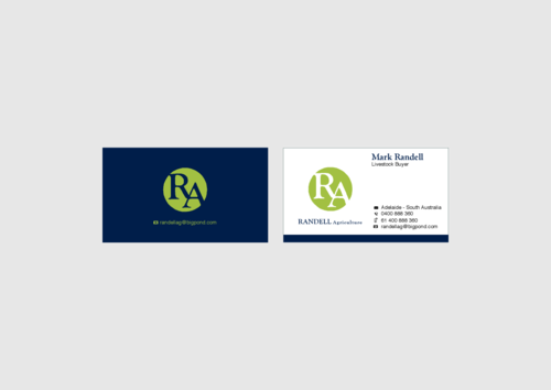 Randell Ag Business Cards and Stationery  Draft # 22 by KenArrok
