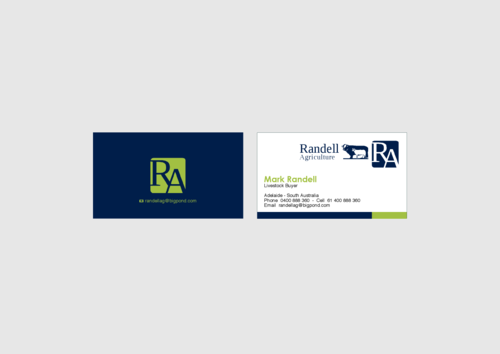 Randell Ag Business Cards and Stationery  Draft # 25 by KenArrok