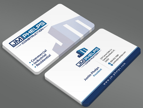 JM Phelps Construction Business Cards and Stationery  Draft # 6 by ArtworksKingdom