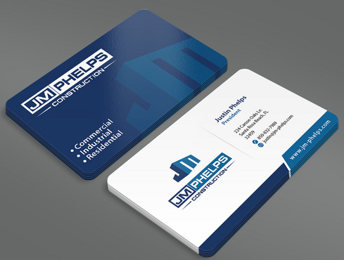 JM Phelps Construction Business Cards and Stationery  Draft # 11 by ArtworksKingdom