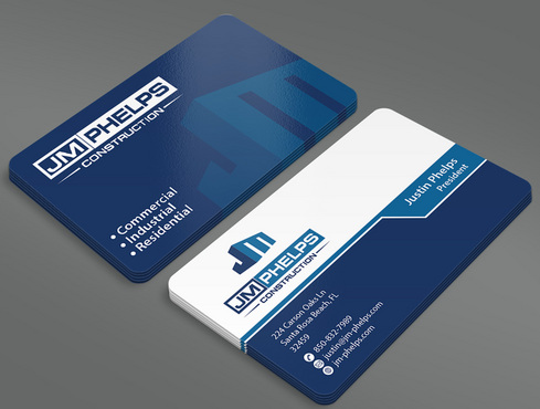 JM Phelps Construction Business Cards and Stationery  Draft # 41 by ArtworksKingdom