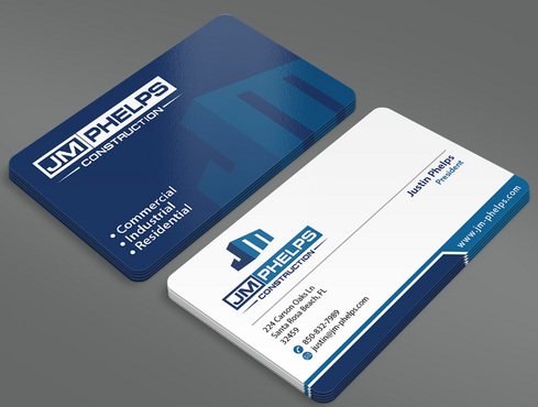 JM Phelps Construction Business Cards and Stationery  Draft # 42 by ArtworksKingdom
