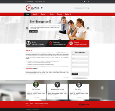 Velarity Complete Web Design Solution  Draft # 162 by vishal83