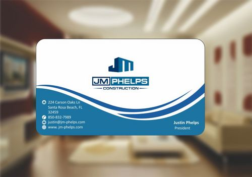 JM Phelps Construction Business Cards and Stationery  Draft # 156 by Deck86
