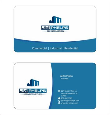 JM Phelps Construction Business Cards and Stationery  Draft # 157 by Deck86