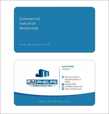 JM Phelps Construction Business Cards and Stationery  Draft # 158 by Deck86