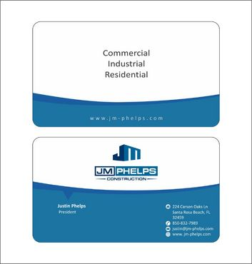 JM Phelps Construction Business Cards and Stationery  Draft # 159 by Deck86