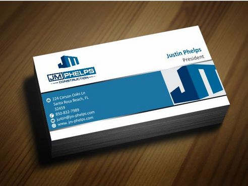 JM Phelps Construction Business Cards and Stationery  Draft # 160 by Deck86
