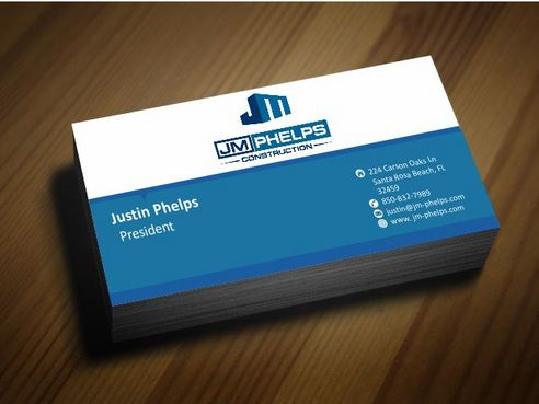 JM Phelps Construction Business Cards and Stationery  Draft # 161 by Deck86