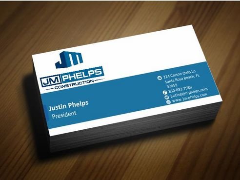 JM Phelps Construction Business Cards and Stationery  Draft # 163 by Deck86