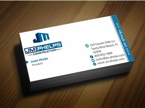 JM Phelps Construction Business Cards and Stationery  Draft # 162 by Deck86