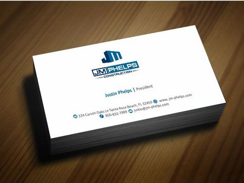 JM Phelps Construction Business Cards and Stationery  Draft # 164 by Deck86