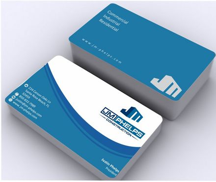 JM Phelps Construction Business Cards and Stationery  Draft # 165 by Deck86