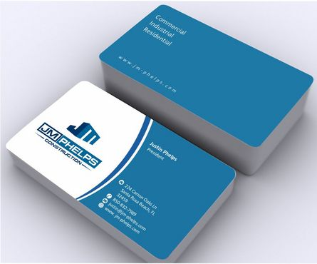 JM Phelps Construction Business Cards and Stationery  Draft # 166 by Deck86