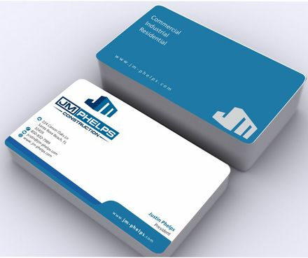 JM Phelps Construction Business Cards and Stationery  Draft # 167 by Deck86