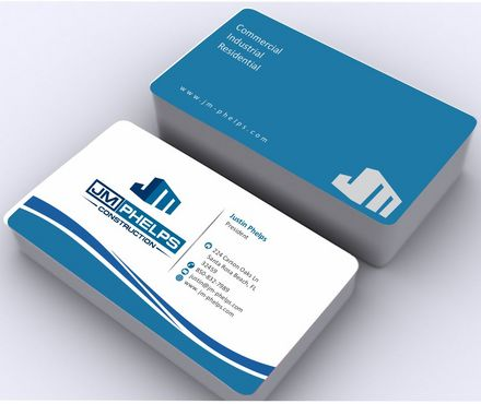 JM Phelps Construction Business Cards and Stationery  Draft # 169 by Deck86