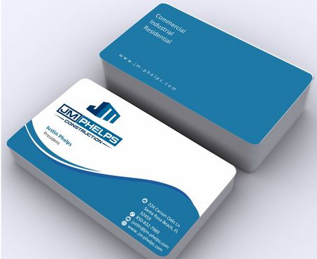 JM Phelps Construction Business Cards and Stationery  Draft # 170 by Deck86