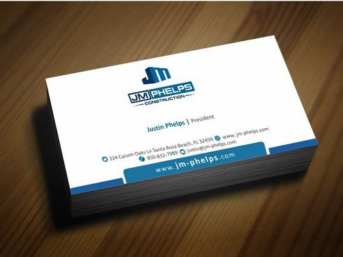 JM Phelps Construction Business Cards and Stationery  Draft # 171 by Deck86