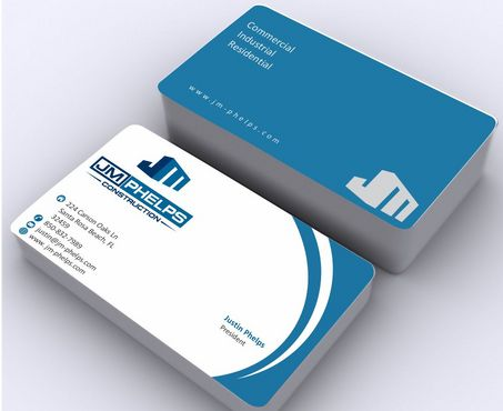 JM Phelps Construction Business Cards and Stationery  Draft # 172 by Deck86