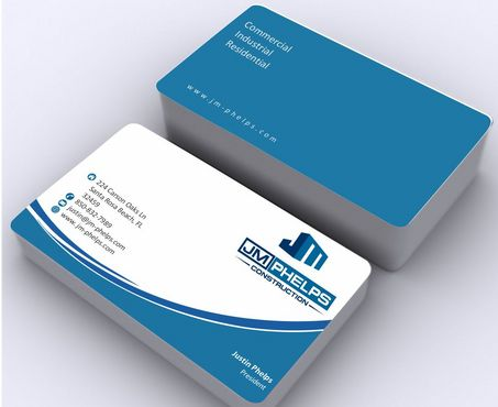 JM Phelps Construction Business Cards and Stationery  Draft # 175 by Deck86