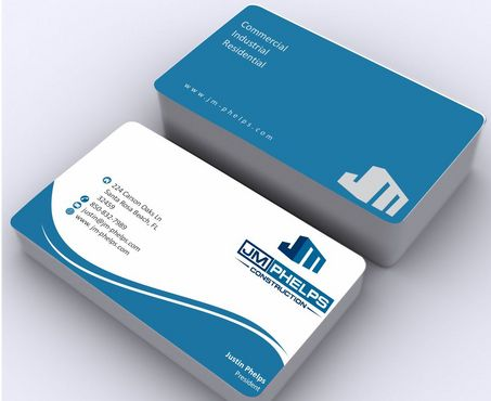 JM Phelps Construction Business Cards and Stationery  Draft # 176 by Deck86