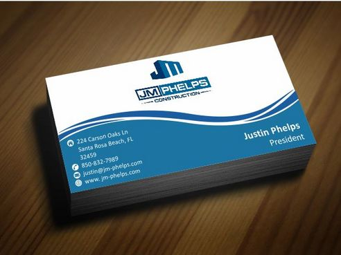 JM Phelps Construction Business Cards and Stationery  Draft # 177 by Deck86