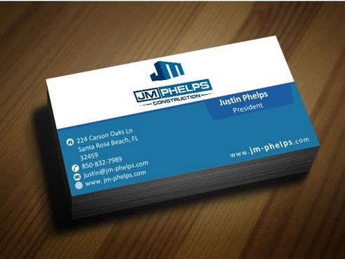 JM Phelps Construction Business Cards and Stationery  Draft # 178 by Deck86