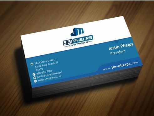 JM Phelps Construction Business Cards and Stationery  Draft # 179 by Deck86