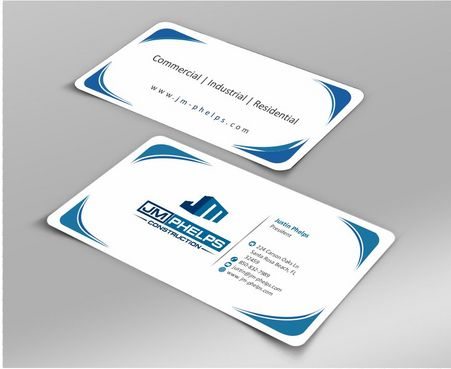 JM Phelps Construction Business Cards and Stationery  Draft # 180 by Deck86
