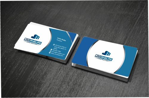 JM Phelps Construction Business Cards and Stationery  Draft # 181 by Deck86