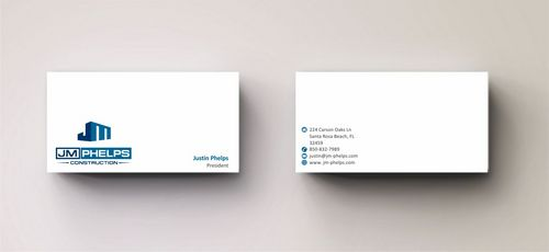 JM Phelps Construction Business Cards and Stationery  Draft # 182 by Deck86