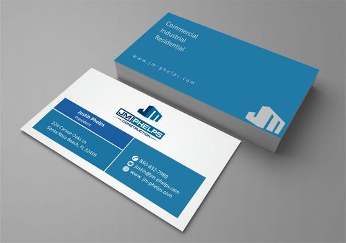 JM Phelps Construction Business Cards and Stationery  Draft # 184 by Deck86