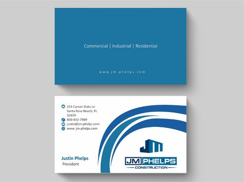 JM Phelps Construction Business Cards and Stationery  Draft # 183 by Deck86