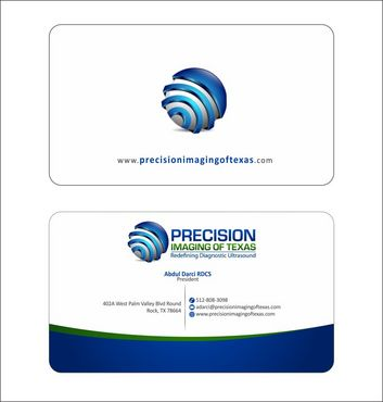 Redefining Diagnostic Ultrasound Business Cards and Stationery  Draft # 168 by Deck86