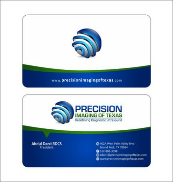 Redefining Diagnostic Ultrasound Business Cards and Stationery  Draft # 169 by Deck86