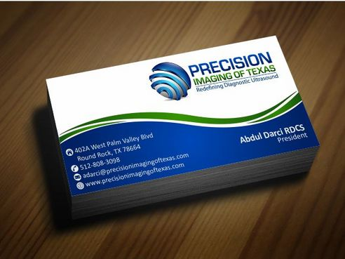 Redefining Diagnostic Ultrasound Business Cards and Stationery  Draft # 187 by Deck86