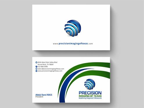 Redefining Diagnostic Ultrasound Business Cards and Stationery  Draft # 194 by Deck86