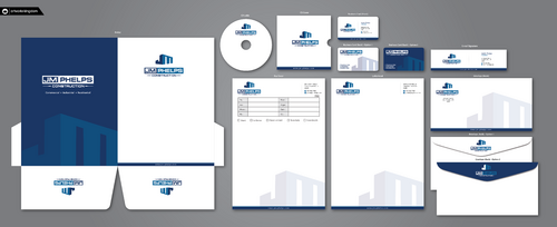 JM Phelps Construction Business Cards and Stationery  Draft # 206 by ArtworksKingdom