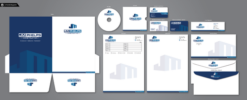 JM Phelps Construction Business Cards and Stationery  Draft # 209 by ArtworksKingdom