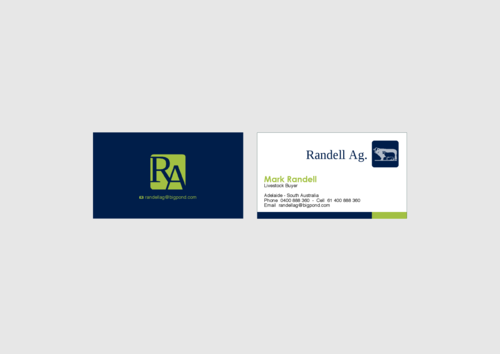Randell Ag Business Cards and Stationery Winning Design by KenArrok
