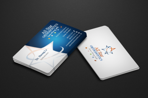 All Star Orthodontics Business Cards and Stationery  Draft # 71 by einsanimation
