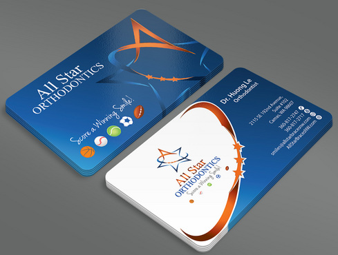 All Star Orthodontics Business Cards and Stationery  Draft # 88 by ArtworksKingdom